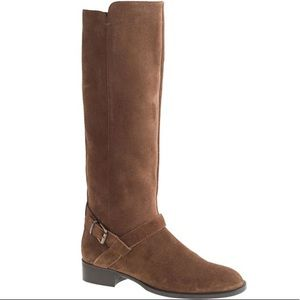 J. Crew Brown Suede Lowell Riding Boots Size 8.5